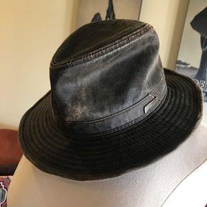 Boys Indiana Jones Weathered Cloth Fedora Hat EUC
